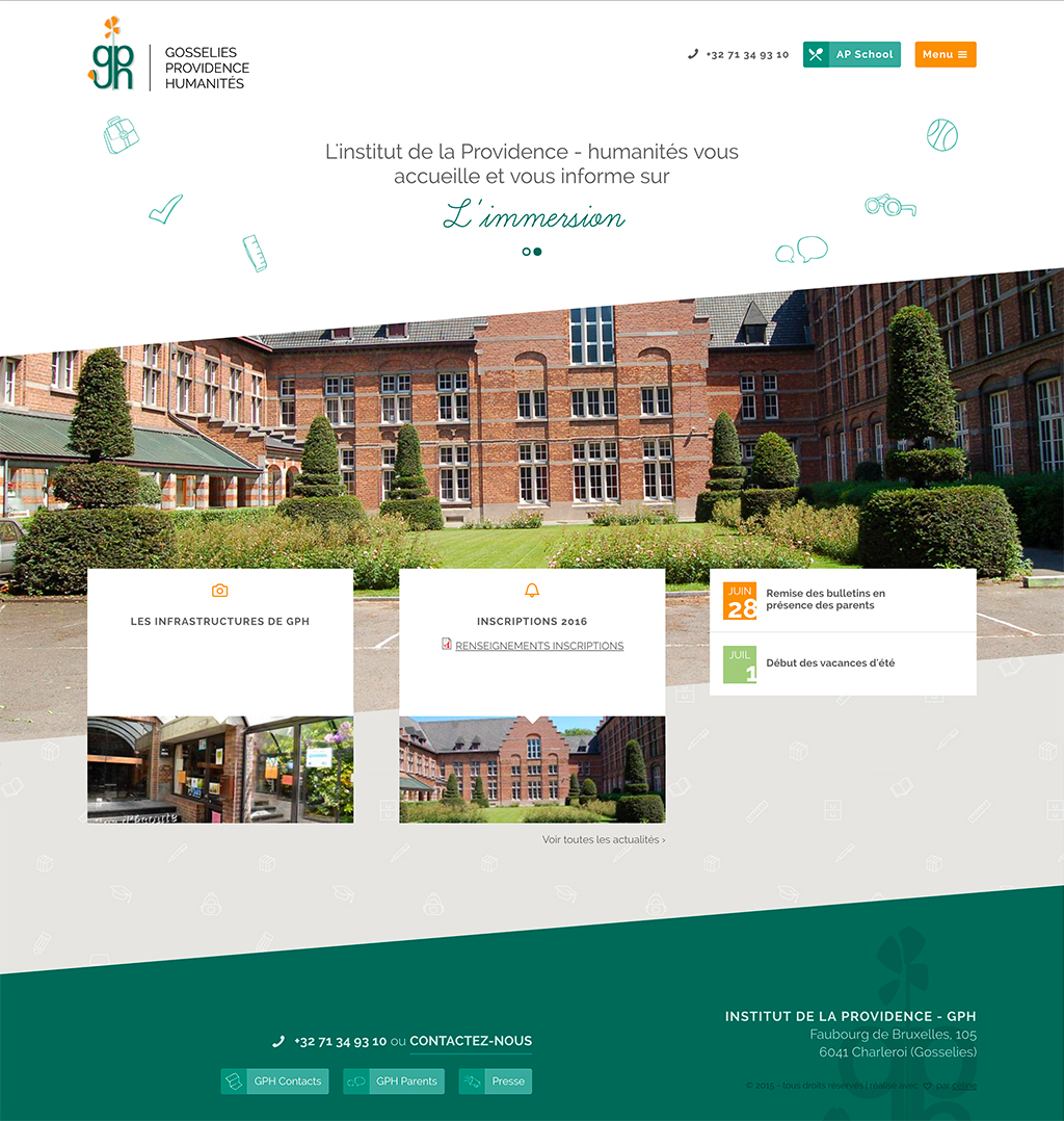 Page d'accueil GPH