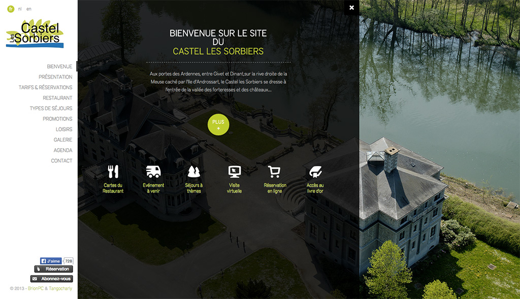 Castel les Sorbiers - Page d'Accueil