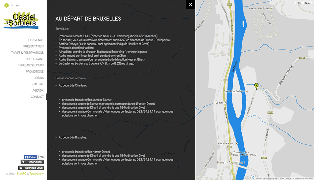 Castel les Sorbiers - Page Contact
