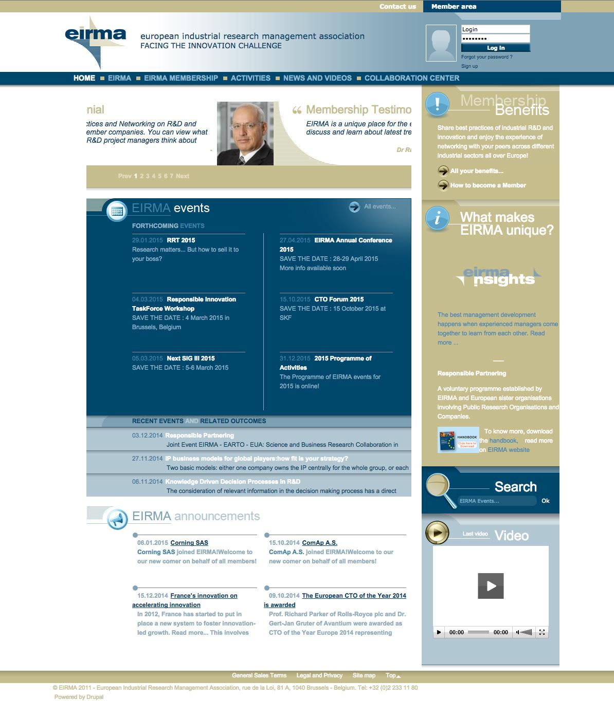 Eirma - Page d'accueil