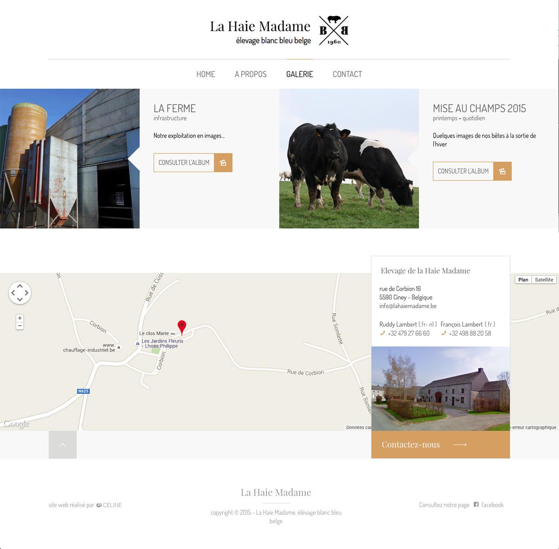 Galerie d'images du site de La Haie Madame