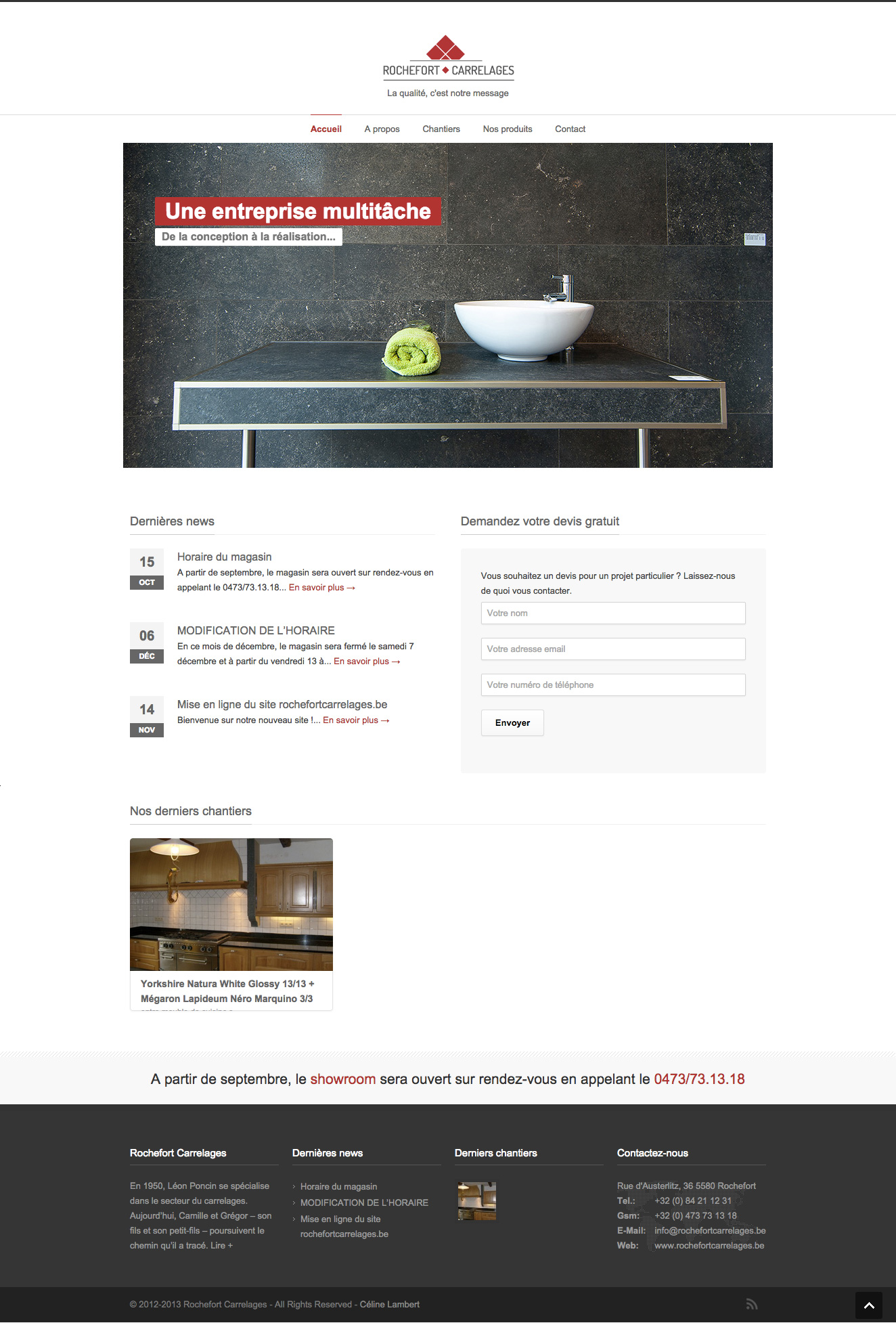 Page d'accueil Rochefort carrelages