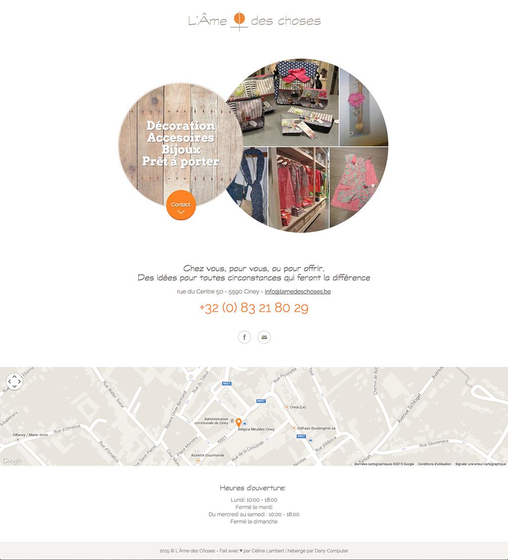 Webcarte L'Âme des Choses - Magasin de décoration