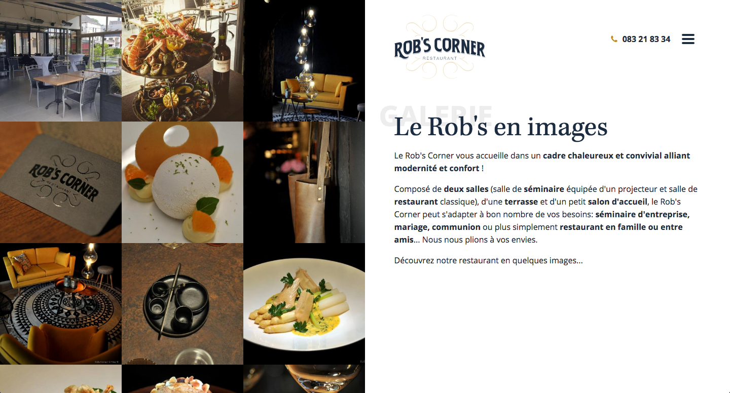 Page Galerie - Rob's Corner